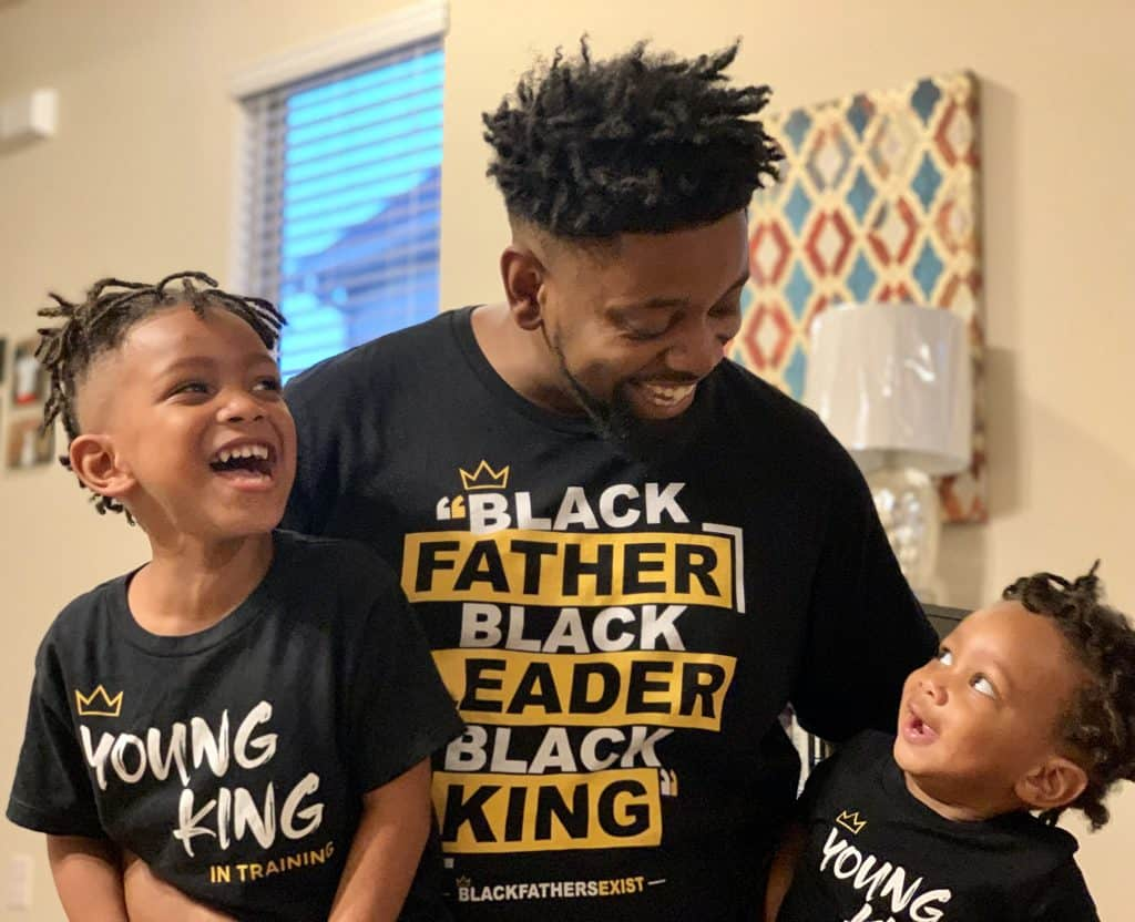 Charles Smith, father of two and founder of Black Fathers Exist.
