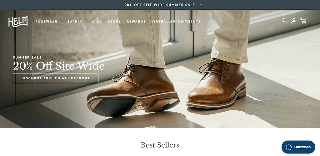 Helm Boots Homepage