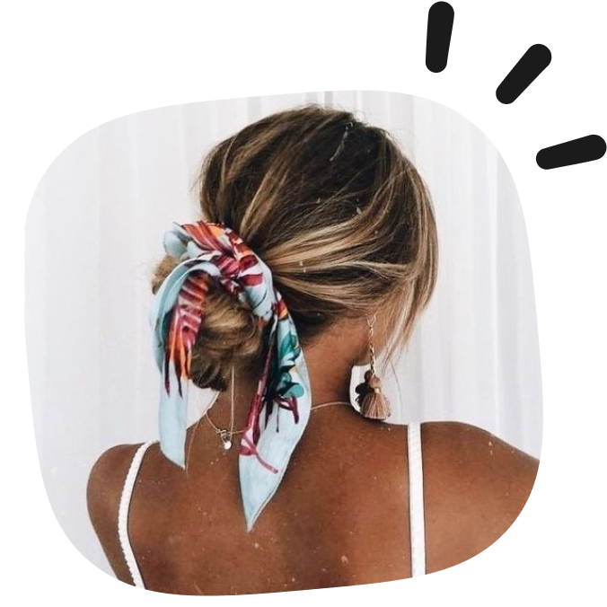 how to make a scarf as an hair accessory