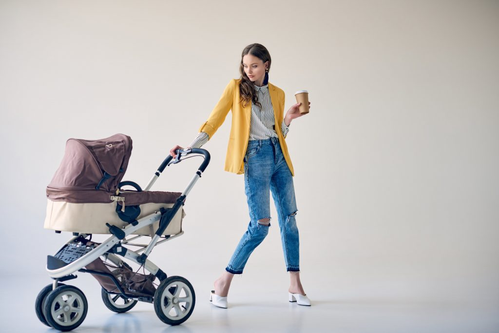 mothern mother with pram