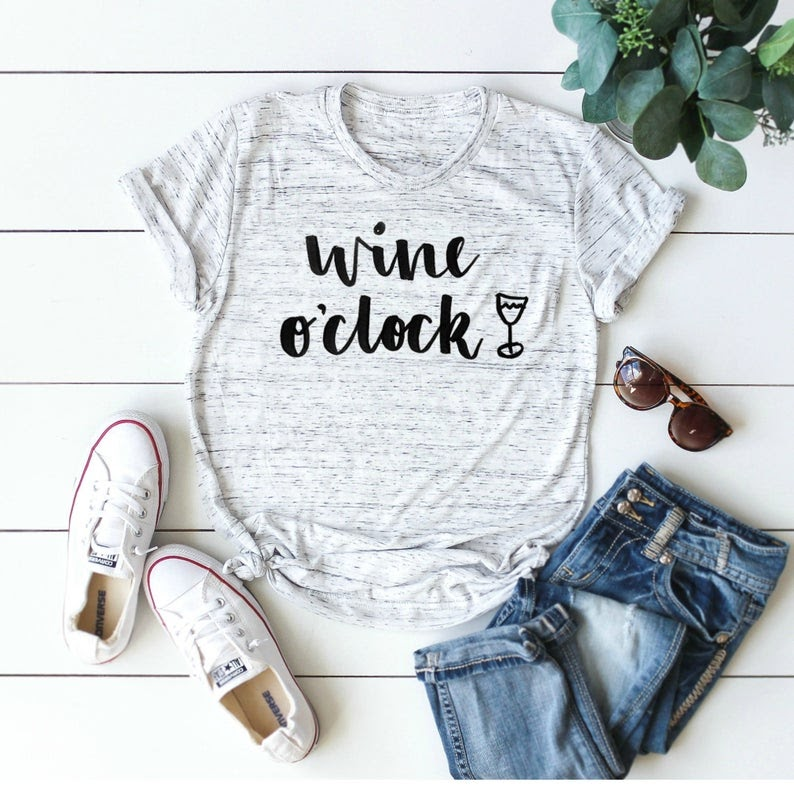 mothers day gift its wine o clock shirt
