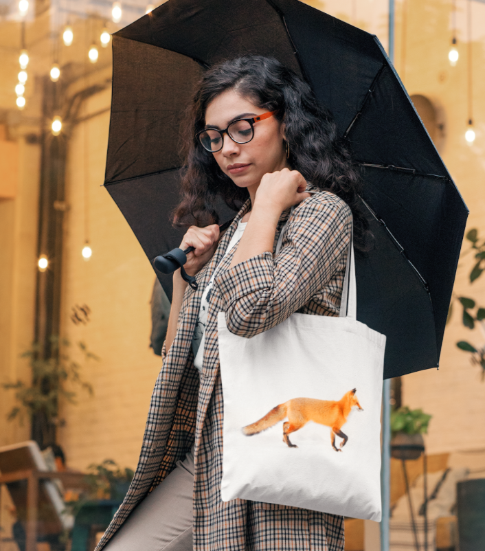photogrsphy on a tote bag