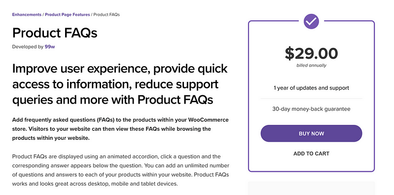 Product FAQs