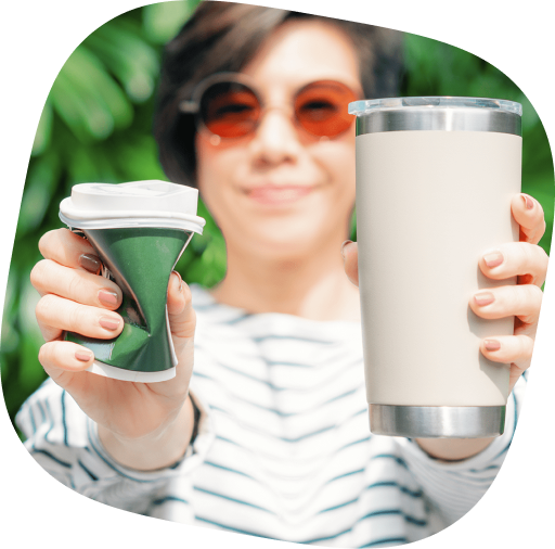 eco friendly stainless steel mug vs plastic cup