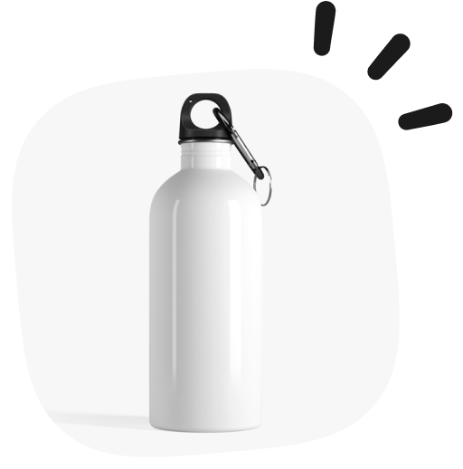 water bottle as a white label product