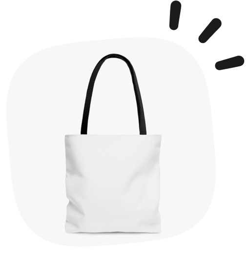 white label AOP tote bags