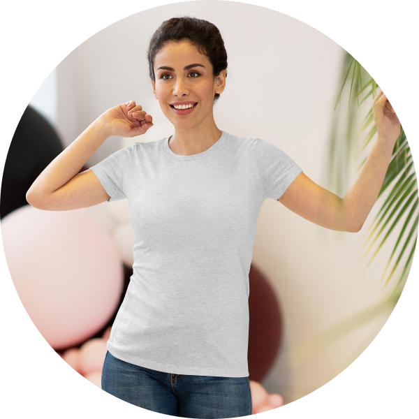 next level apparel womans tee