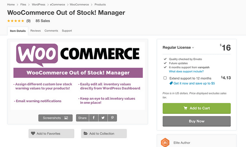 WooCommerce Out Of Stock! Manager