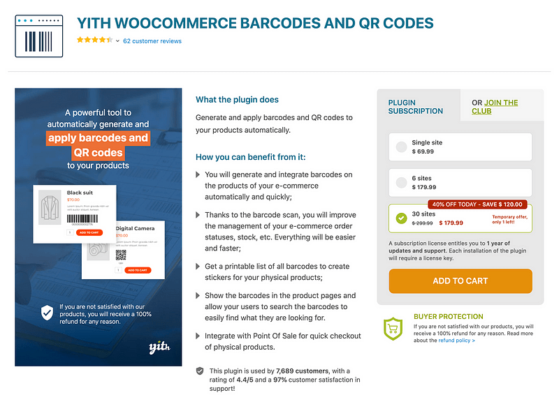 YITH WooCommerce Barcodes & QR Codes